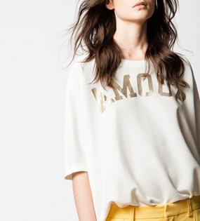 cd9a0830d82 상품명 : 여성옷쇼핑몰 골드 아모르 티셔츠